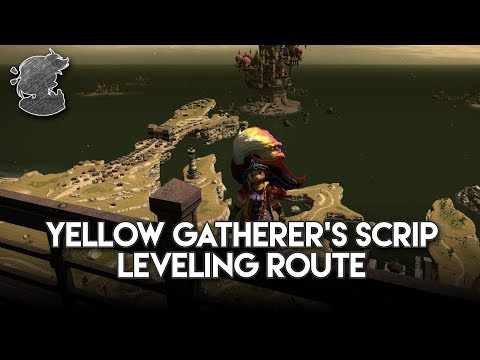 Yellow Gatherer's Scrip Leveling Route | FFXIV