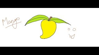 Easy Kids Drawing Lessons : How to draw a Mango easy for KIDS