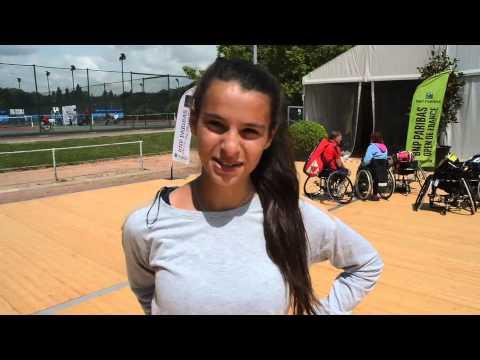 ITV de la fiancée de Gustavo Fernandez - BNP Paribas Open de France de tennis fauteuil 2013