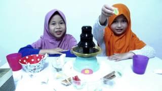 Chocolate Fountain Challenge ❤ Naurah Falihah ft Aisyah Hanifah ❤ Seru Banget