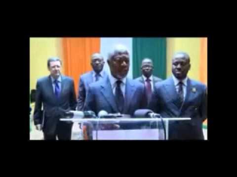 """Réconciliation Nationale: Le Président du Groupe """"The Elders"""" Kofi ANNAN reçu par Guillaume SORO"""
