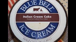 Blue Bell: Italian Cream Cake Ice Cream Review