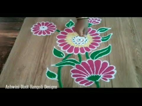 free hand small rangoli designs