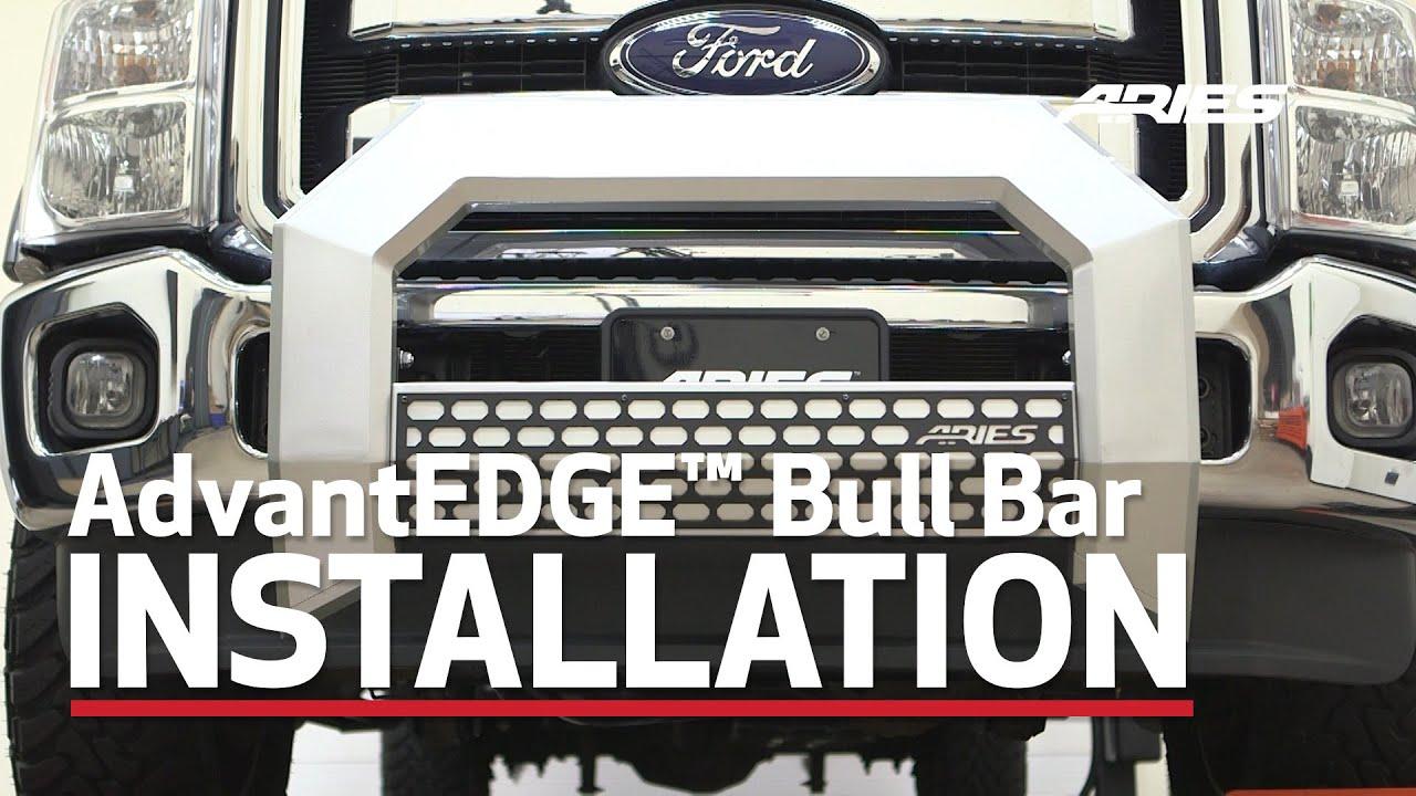 Aries Bull Bar Install Advantedge On Ford F 350 Super Duty 2153002 2163002 You