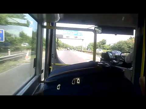 Trip on Service 199 from Manchester Airport to Stockport on the motorway