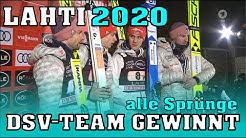Skispringen: DSV Adler gewinnen Teamspringen in Lahti (alle 8 Sprünge)