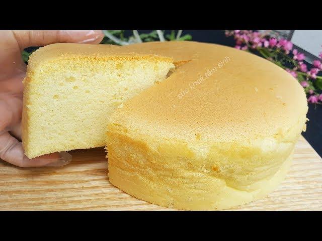 Cách làm bánh bông lan xốp mịn không cần lò nướng cũng làm được