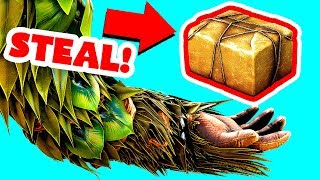 EASIEST WAY TO STEAL IN ARK SURVIVAL EVOLVED! (Ark Survival Evolved Trolling)