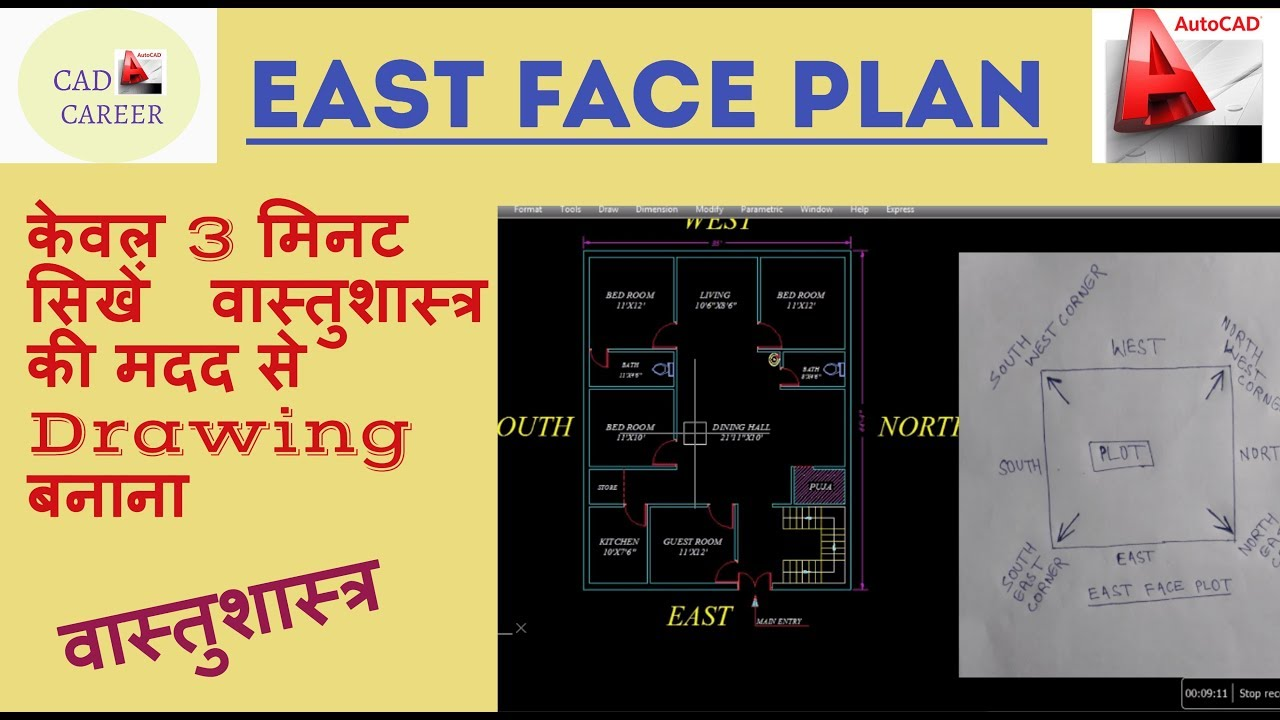 East Face House Plan 35x40 Walk Through With Vastu East Face Vastu House Plan With Basic Concpt