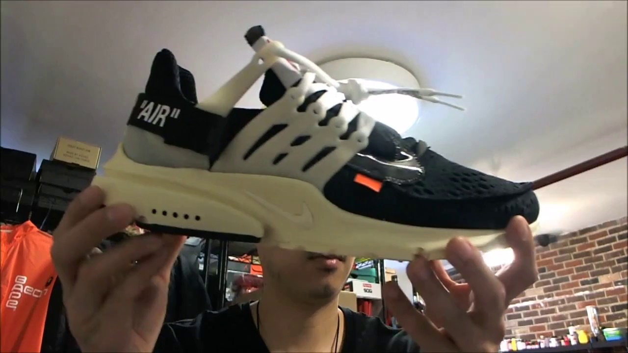 2017 Off White X Nike Air Presto Damaged Box AA3830 001 sz 11 - YouTube 75976819b