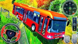 Yokuş Yukarı Offroad Otobüs Sürüş Simülatörü - Koç Modern Otobüs Dağ Sürücüsü - Android GamePlay
