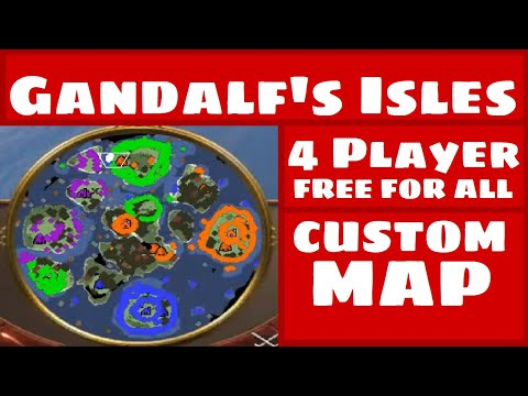 4 Player FREE FOR ALL Gandalf's Isles CUSTOM MAP | Age Of Empires III