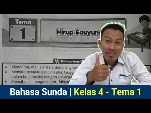 Bahasa Sunda Kelas 4 Tema 1 Hirup Sauyunan Youtube