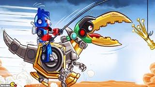 Angry Birds Transformers: Unlocked Gold Bite Grimlock Max Level JENGA Gameplay Part 86