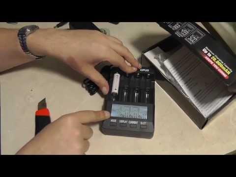 Распаковка универсального зарядного устройства OPUS BT-C3100 версии V2.2