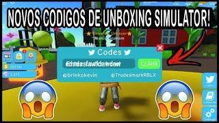 NOVO CODE+ NOVA DICAS OP DE UNBOXING SIMULATOR! Roblox