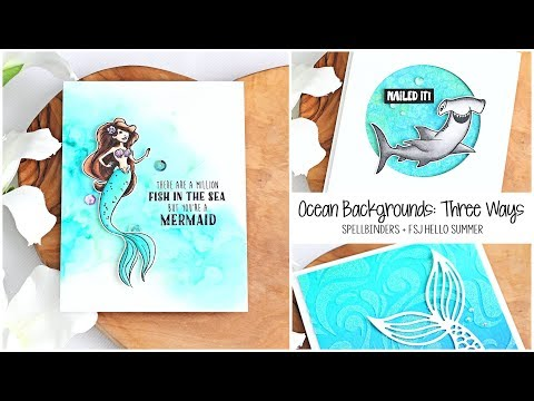 Ocean Backgrounds: Three Ways | The Card Grotto