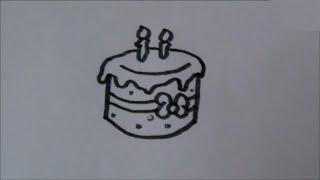 Cartoon birthday cake! (taart)