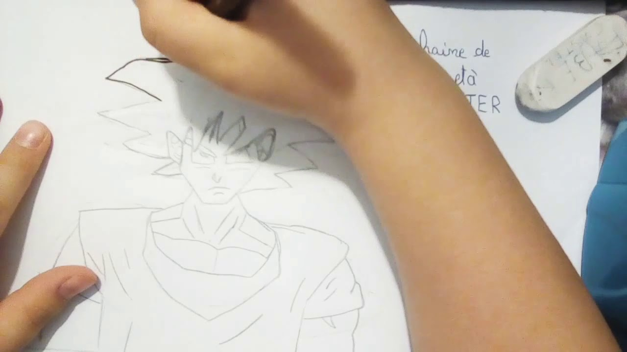 Comment Dessiner Son Goku Facile Noir Et Blanc Youtube