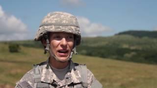 Mădălina Lupescu, specialist al Gărzii Naționale din statul Carolina de Nord GETICA SABER-17