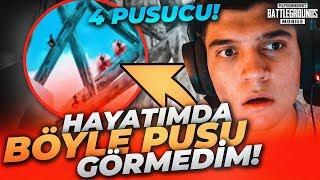 HİÇ TAHMİN ETMİYORDUM! EFSANE PUSUYA YAKALANDIK!! | PUBG Mobile Erangel Gameplay