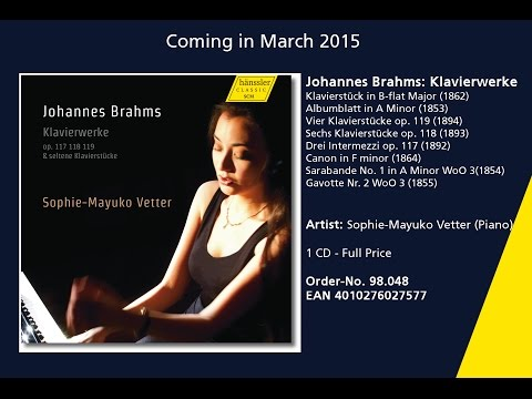 Sophie-Mayuko Vetter performs Brahms