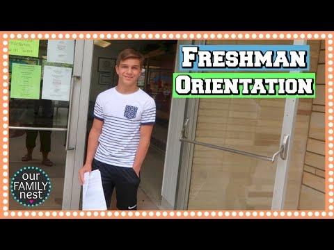 FRESHMAN ORIENTATION! FIRST YEAR OF HIGH SCHOOL!