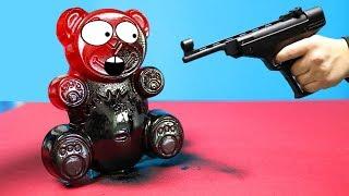 Kann Gummispray Lucky Bär beschützen? Experiment