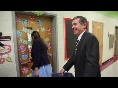 Governor Cooper Drops Off School Supplies
