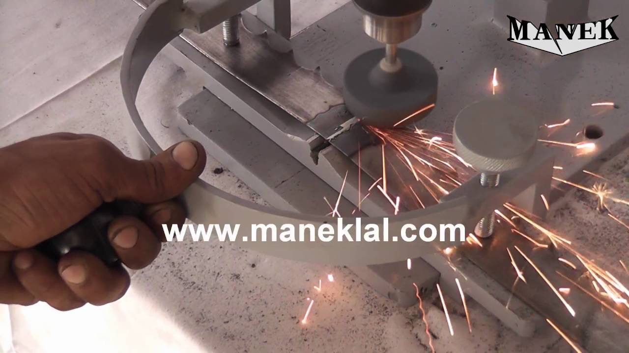 Manek Burr Grinder For Removing Welding Flash From Band