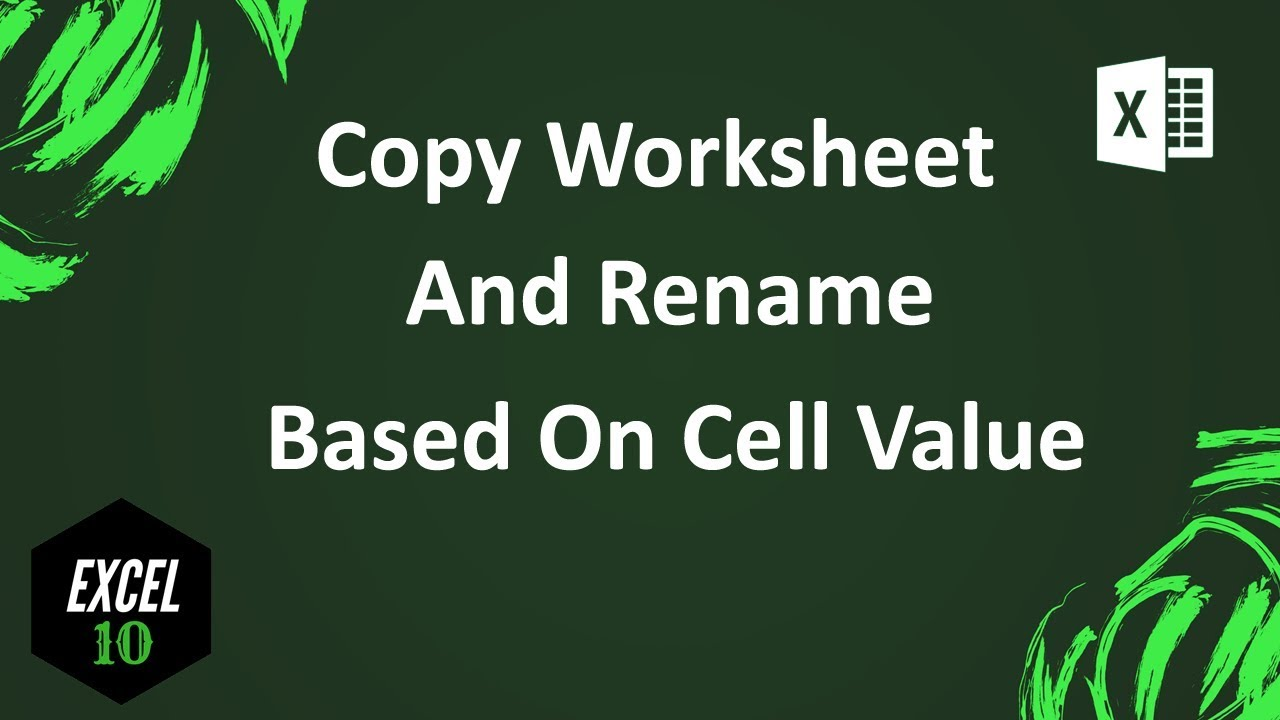 How to copy sheet and rename based on cell value in excel youtube how to copy sheet and rename based on cell value in excel ibookread Read Online