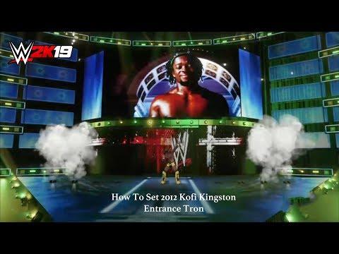 WWE 2K19 - How To Set Kofi Kingston 2012 Entrance Tron (XB1)