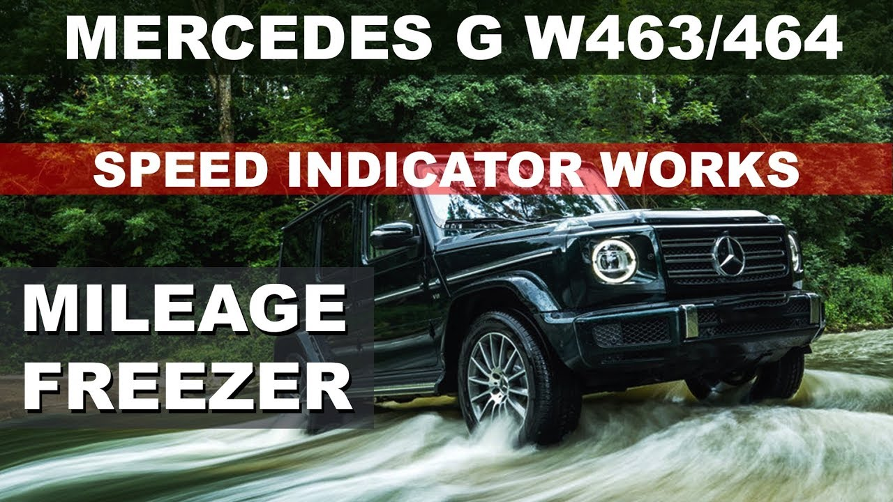 MERCEDES G Class W463 W464 Facelift AMG steering wheel retrofit - Mileage  odometer Correction