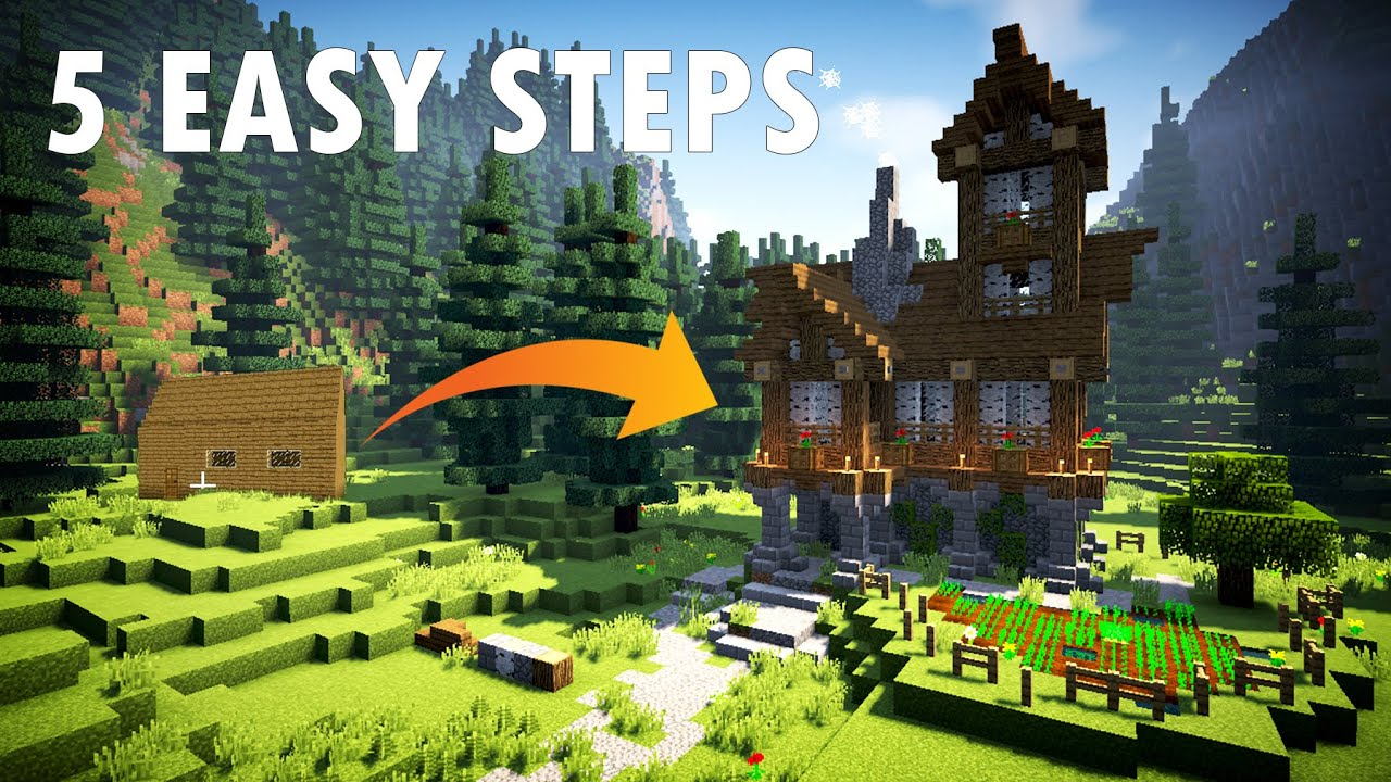 Home Building Tips 5 easy steps/tips to build a better minecraft house - youtube