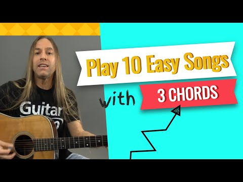 Play 10 Easy Songs with Only 3 Guitar Chords – Beginner Guitar Lessons | Steve Stine