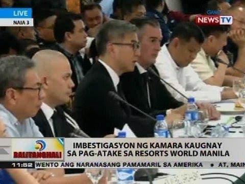 Imbestigasyon ng Kamara kaugnay sa pag-atake sa Resorts World Manila (Part 1)