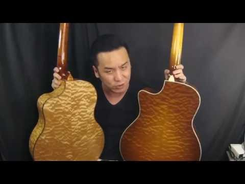 Taylor and Mcpherson QUILTED Maple shootout Guitar review in Singapore