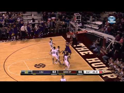 02/02/2013 LSU vs Mississippi State Men's Basketball Highlights