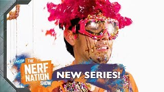 Human Ice Cream Sundae w Zach King in SLOW MO The NERF Nation Show Episode 10