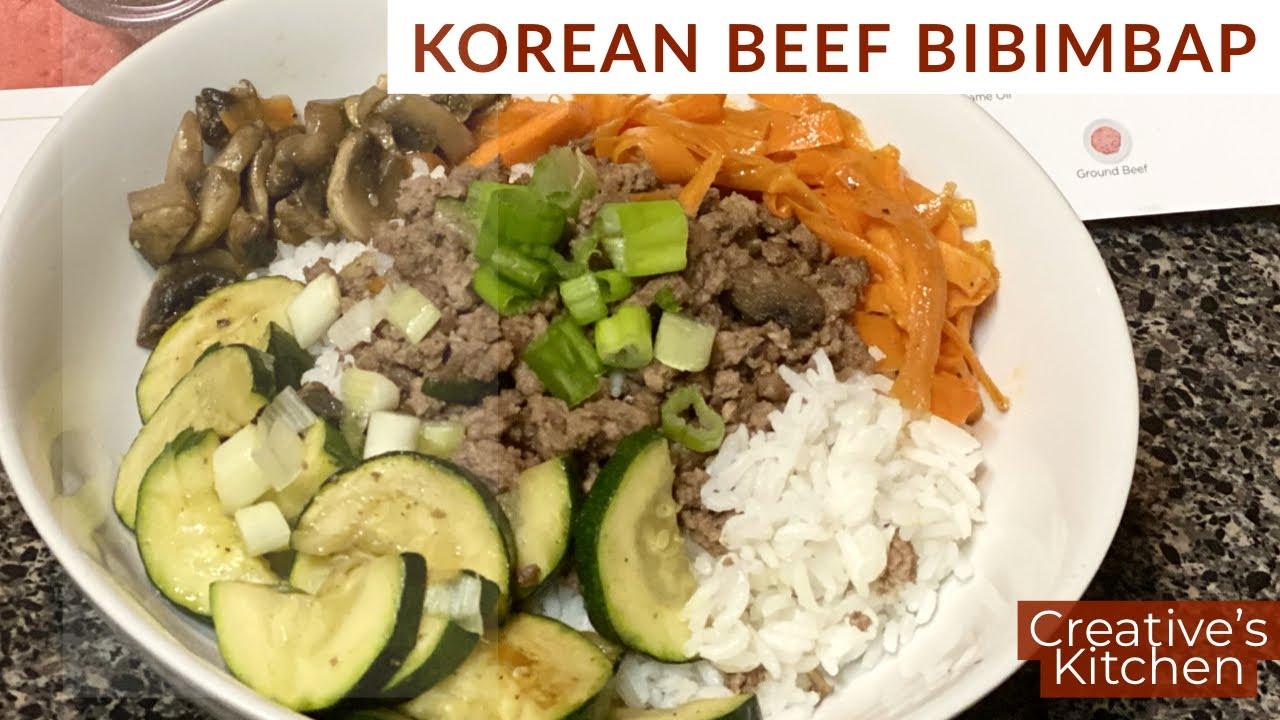 Hello Fresh Cook With Me Korean Beef Bibimbap Creative S