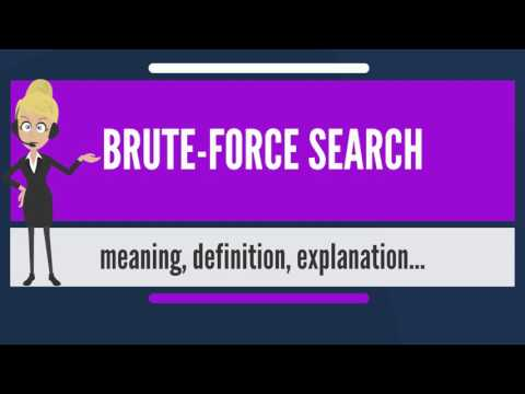What is BRUTE-FORCE SEARCH? What does BRUTE-FORCE SEARCH mean? BRUTE-FORCE SEARCH meaning