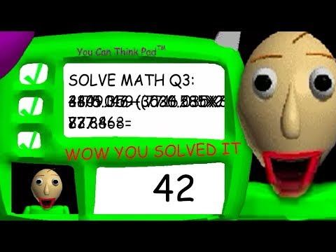 Baldi gets OUTSMARTED! - Solving the 3rd problem in Baldi's Basics.