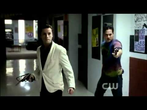 Vampire Diaries 2x18 - Stefan and Damon protect Jeremy