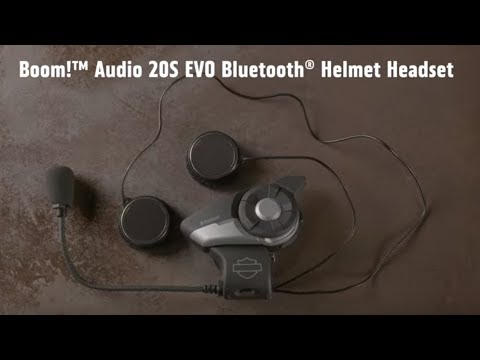 f26466c6eb2 Boom! Audio 20S EVO Bluetooth Helmet Headset | Harley-Davidson - YouTube