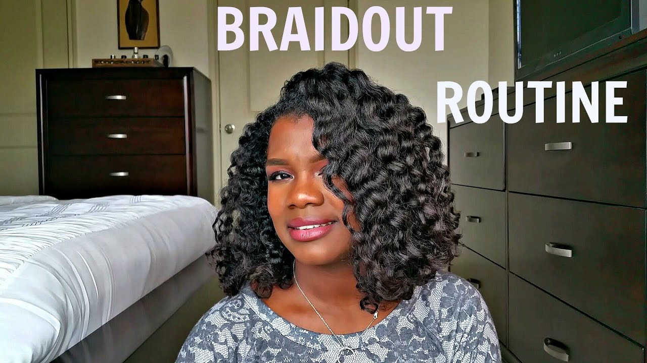 Best Braid Out Naturaltransitioning Hair Youtube