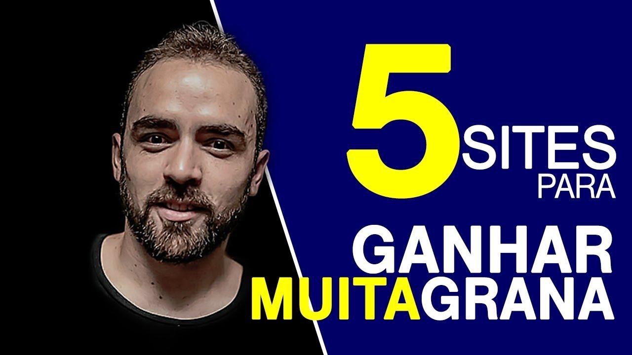 5 SITES PARA GANHAR DINHEIRO EM CASA SEM INVESTIMENTO