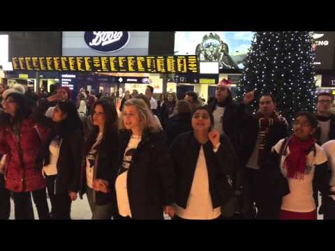 waterloo station Flashmob