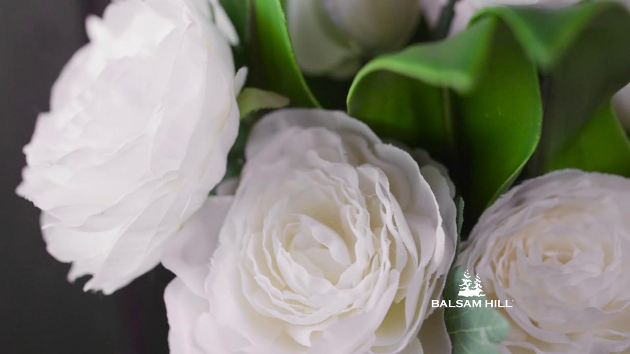 White tulip ranunculus flower arrangement from balsam hill youtube white tulip ranunculus flower arrangement from balsam hill mightylinksfo
