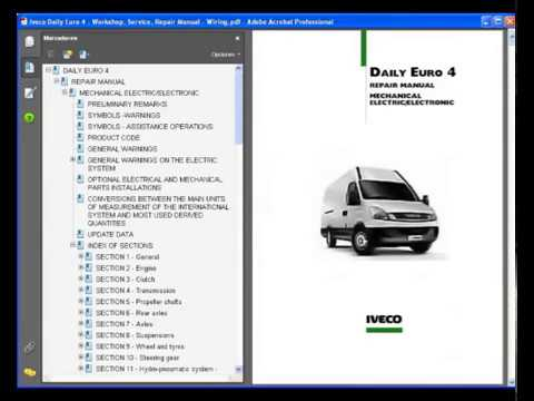 iveco daily euro 4  service manual  wiring diagram
