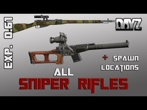 DayZ Standalone: Sniper Rifles - New Sounds, Spawn Locations, Ammo, Mags